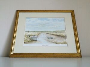 Blakeney-From-Morston-Norfolk-A-Limited-Edition-Framed-Print-By-Derek-Preece