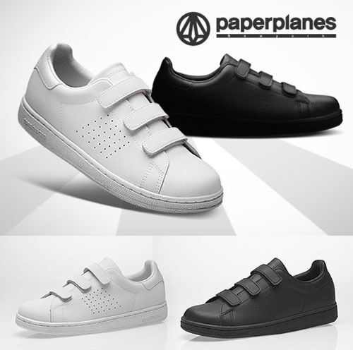 Scarpe casual da uomo PaperPlanes uomos Belted Shoes Leather Triple Grip Strap Casual Sneakers 1399