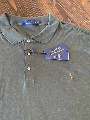NWT Polo Ralph Lauren Soft Touch Polo Olive Green Mens Big & Tall Size 4XL Tall | eBay