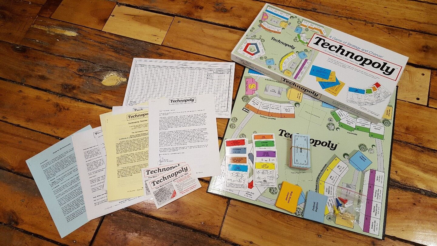 Technopoly (jeu de plateau, 1991) Jim McBurney Educational finance RARE Complet