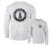 Army National Guard Emblem Usng Black Circle F&b Long Sleeve T-shirt Distressed