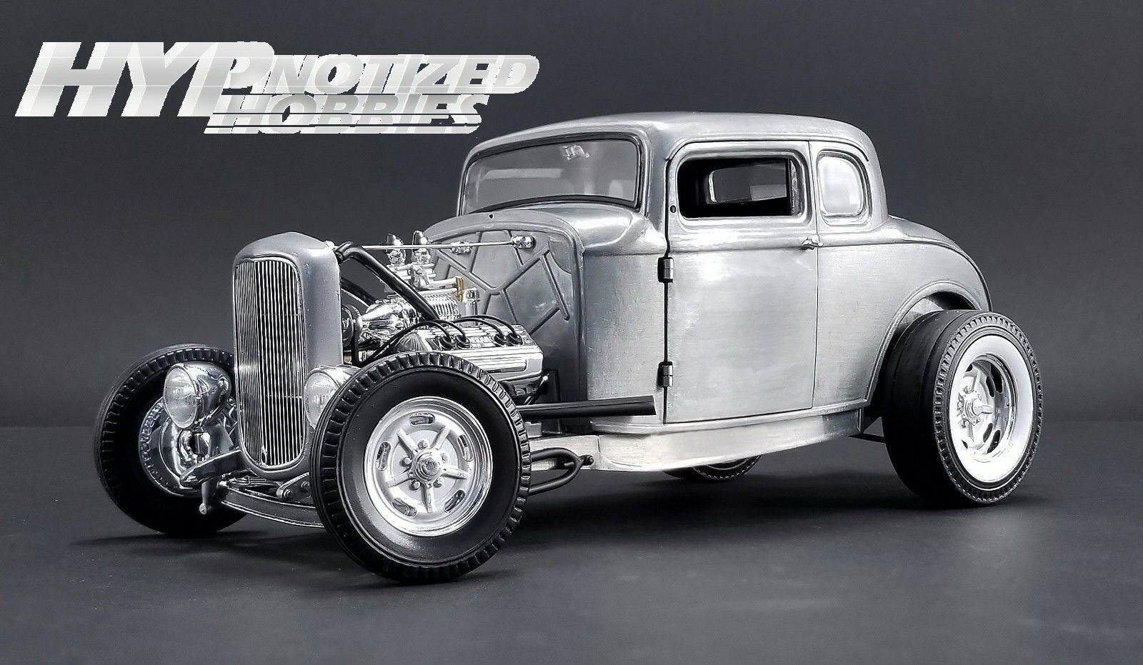 ACME 1:18 1932 FORD 5 WINDOW HAMMERED STEEL DIE-CAST BARE METAL A1805013