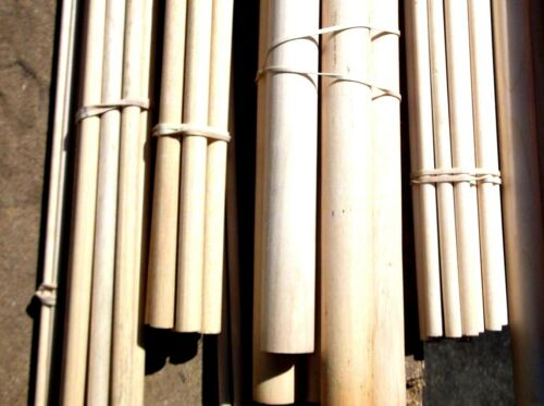 "1/"" Diameter Hardwood Dowels Craft Pole Modelling Stick Dowel 4/"" to 18/"" Lengths."