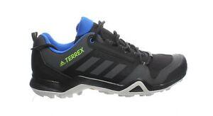 Adidas-Mens-Terrex-Ax3-Black-Solid-Grey-Signal-Green-Hiking-Shoes-Size-12