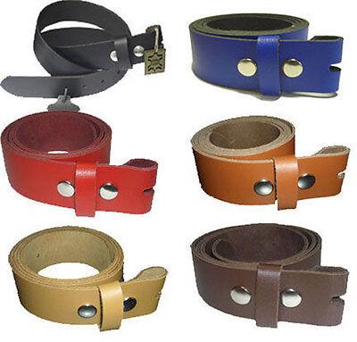 Dedito 100% Pelle 3cm Cintura Di Cambio Lunghezza E Colore A Scelta Cintura In Pelle Per Buckle-mostra Il Titolo Originale Ufficiale 2019