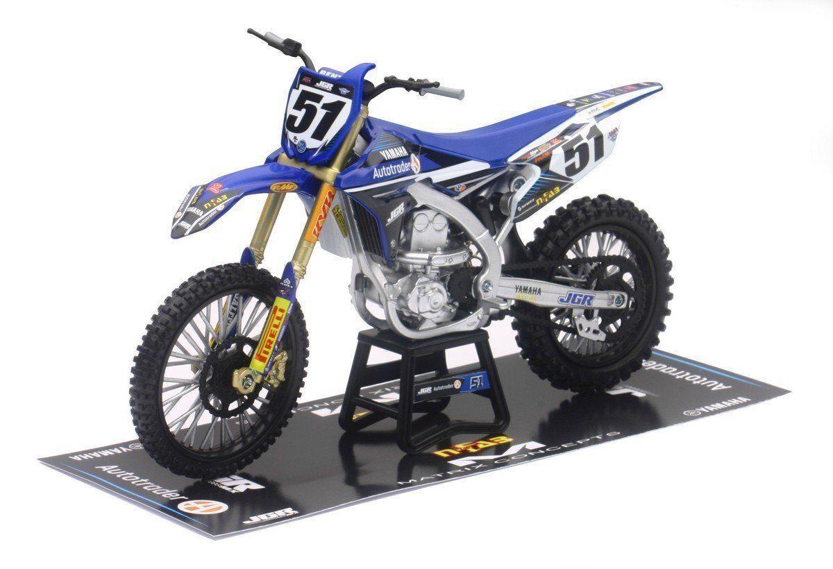 Nuovo Ray 1:12 Justin Barcia  51 Jgr Yamaha YZF 450 Modello Giocattolo Moto X