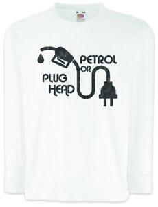 LiebenswüRdig Petrol Or Plug Head Kinder Langarm T-shirt Rennfahrer Petrol Head Fun Auto Liebe Seien Sie Im Design Neu T-shirts, Polos & Hemden