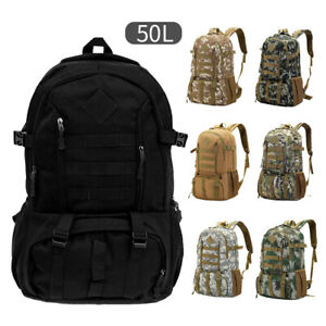 50L-Unisex-Tactical-Backpack-Rucksack-Camping-Hiking-Trekking-Bag-Outdoor-Bags