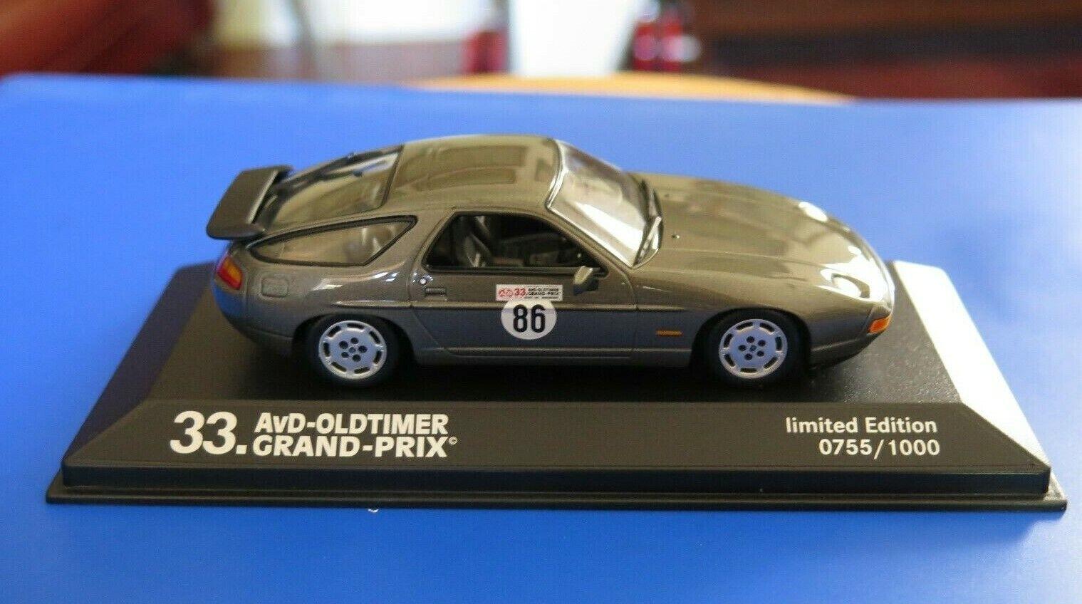 Porsche 928 S4 Minichamps. 1 43. Special edition for 33 Avd Oldtimer Grand Prix.