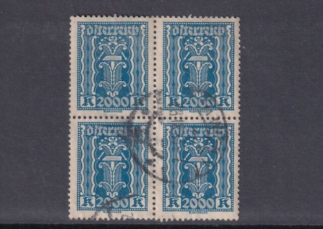 Austria Used Stamp in Block of 4 Sc#285 CV$7