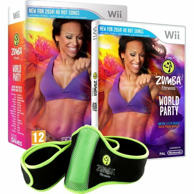 Zumba Fitness World Party for Nintendo Wii New includes fitness BELT-usa version