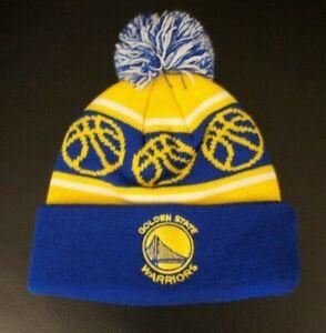 1a7a278304 KIDS Golden State Warriors Winter Hat Cap Cool Basketball Kids Pom ...