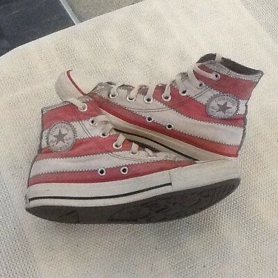 Converse Ladies stars/strips High Top Trainers size uk4 eu36.5