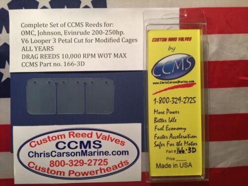 CCMS OMC Johnson Evinrude Drag Outboard Reed 200-250hp V6Looper Mod PN166-3D