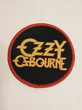 """Ozzy Osbourne Band Embroidered Iron or Sew On Patch 2.5"""" Round Free Ship"""
