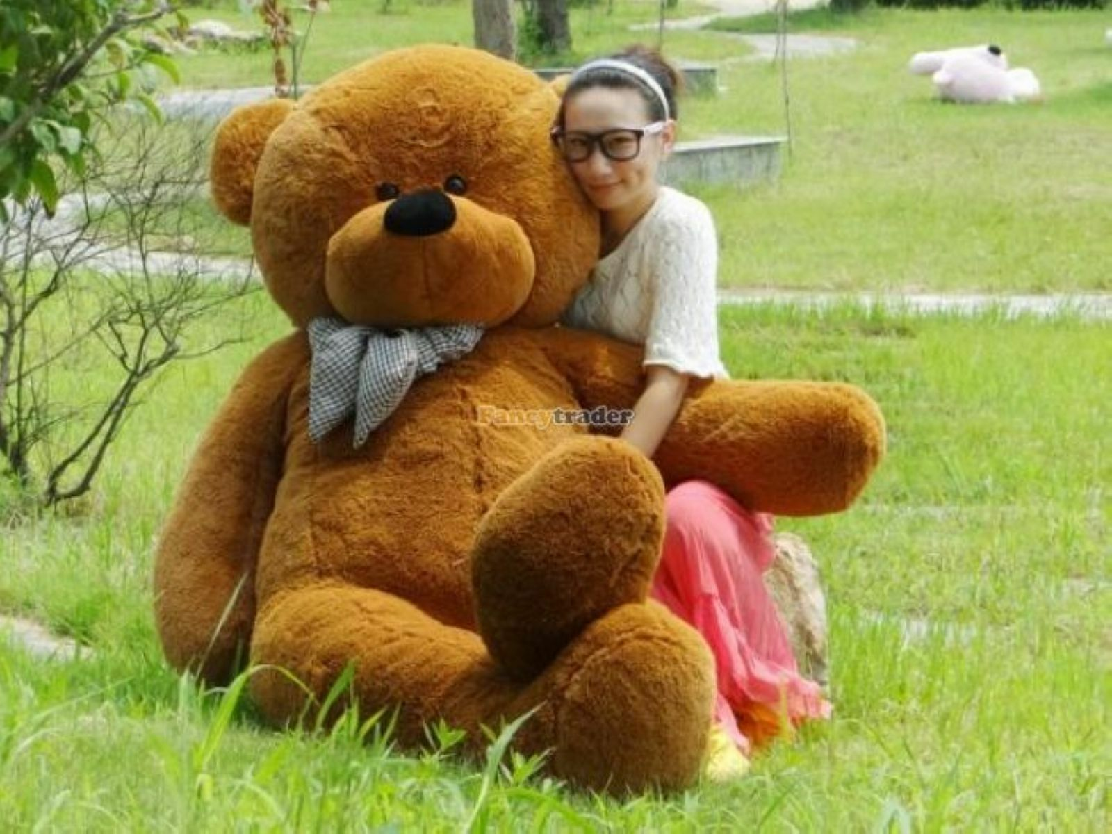 78'' Giant Big marrone TEDDY BEAR Plush Stuffed soft toys doll girlfriend gift