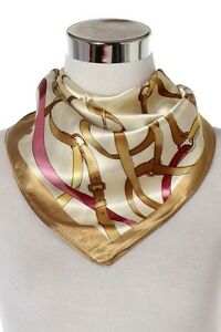 Square-Silk-Mix-Scarf-Belt-Buckle-Design-Floral-Cream-Beige-Black-Green-LilyRosa