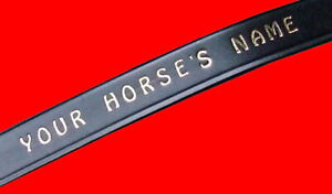 "Personalised browband Black 15"" which is Cob which is Small full which is 38 cms"