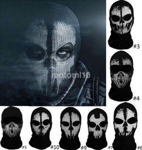 Creative Balaclava Face Skull Mask Ghost Bike Skateboard Hood Cosplay Costume