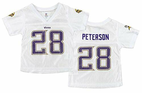 NFL Infant//Toddler Girls Minnesota Vikings Adrian Peterson #28 Dazzle Jersey