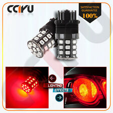 2X High Power AX-2835 SMD 3056 3156 3157 4157 LED Bulbs For Brake/Tail Light Red