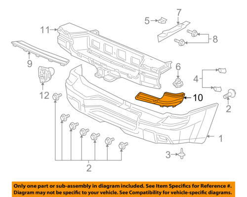 Chevrolet GM OEM Rear Bumper-Step Pad Protector Guard Sill Plate Left 12335817