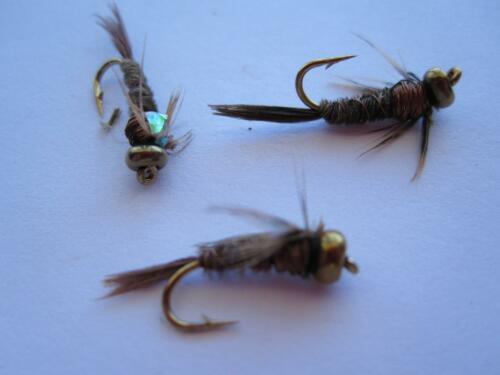 1 DZ D18-3 BEAD HEAD FLASHBACK PHEASANT TAIL COPPER (SIZES AVAILABLE), NYMPHS