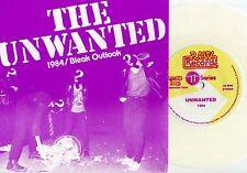 """Unwanted - 1984 / Bleak Outlook 7"""" WHITE VINYL Some Chicken Users Lockjaw Ersatz"""