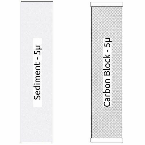 "Big Blue CTO Carbon Block /& Sediment 20""x4.5/"" Replacement Filter Cartridges Set"