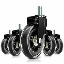 Replacement Office Chair Wheels Universal Fit Desk Chair Rollerblade Wheels 5pcs