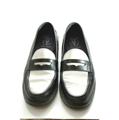 Women Cole Haan Pinch Maine Classics black white leather ...
