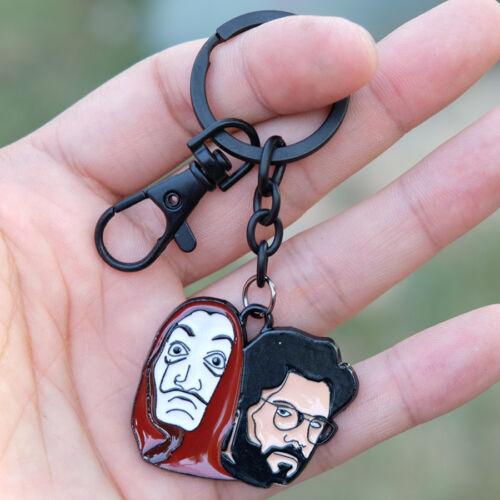 Paper House La Casa De Papel Key Chain Keyrings Metal Pendant Ornament Gift