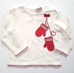 NWT-Gymboree-COZY-OWL-2T-Ivory-Top-Red-Mitten-Heart-Girls-Shirt-Winter-Christmas