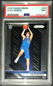 Luka-Doncic-2018-Panini-Prizm-Rookie-Card-RC-280-PSA-9-Mint-Mavericks