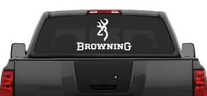 Browning Rear Window Decal Graphic Truck Car SUV Large Wide - Rear window decals for trucks
