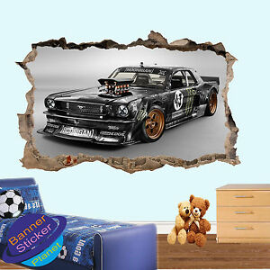 Image Is Loading Modified Mustang Muscle Car Smashed Wall Sticker