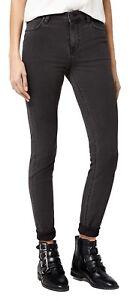 Nouveau délavé femmes Ladies pour Lee Scarlett Jeans noir Denim Stretch qYIUwSxZF