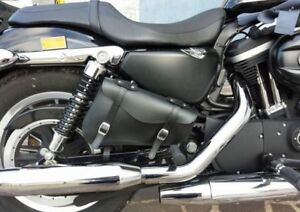 Harley Davidson Sportster XL883 XL1200 Motorrad Leder Werkzeugrolle Satteltasche
