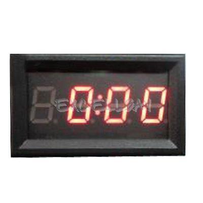 4 Digit 0.4inch LED Digital Electronic Clock for Car Motorcycle Motor E0Xc