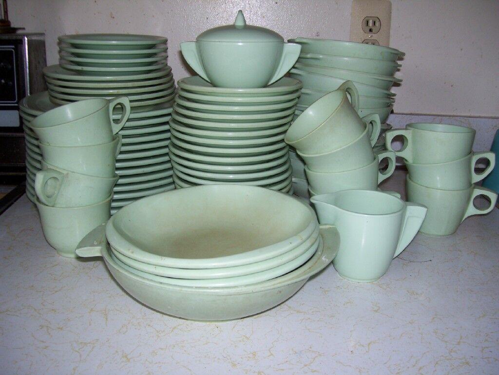 Vintage boontonware Dish Set Circa années 1950
