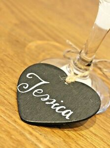 1,10,50,100,500 Mini Heart Chalk Board Blackboard 65x60 name tag craft wedding