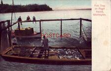 FISH TRAP ON PUGET SOUND, WASHINGTON
