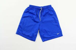 Vintage-Nike-Uomo-Grande-Travis-Scott-Piccolo-Swoosh-Logo-Rete-Gym-Shorts-Blu