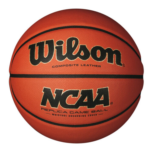 COMPOSITE LEATHER FULL SIZE 7 WILSON NCAA REPLICA GAME Basketball