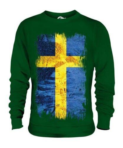 Schweden Grunge Flag Unisex Pullover Top Sverige Fußball Schwedisch