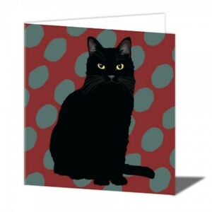 Image Is Loading Black Cat Birthday Card Lover Greeting Cards