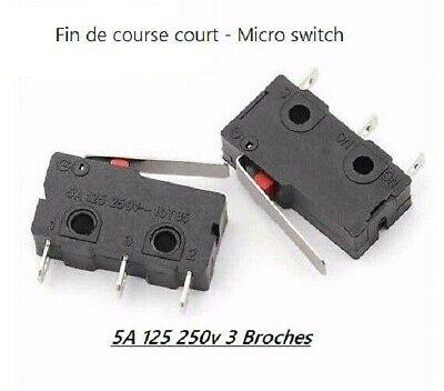 Fin de course bras court 5A 125v 250v 3 broches  par 1-5-10pcs micro switch