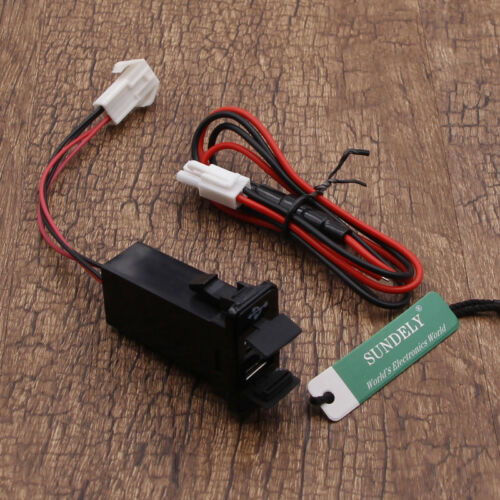 Double Dual 2 USB Port 12V In Car Socket Lighter Charger Adapter For Suzuki Hot