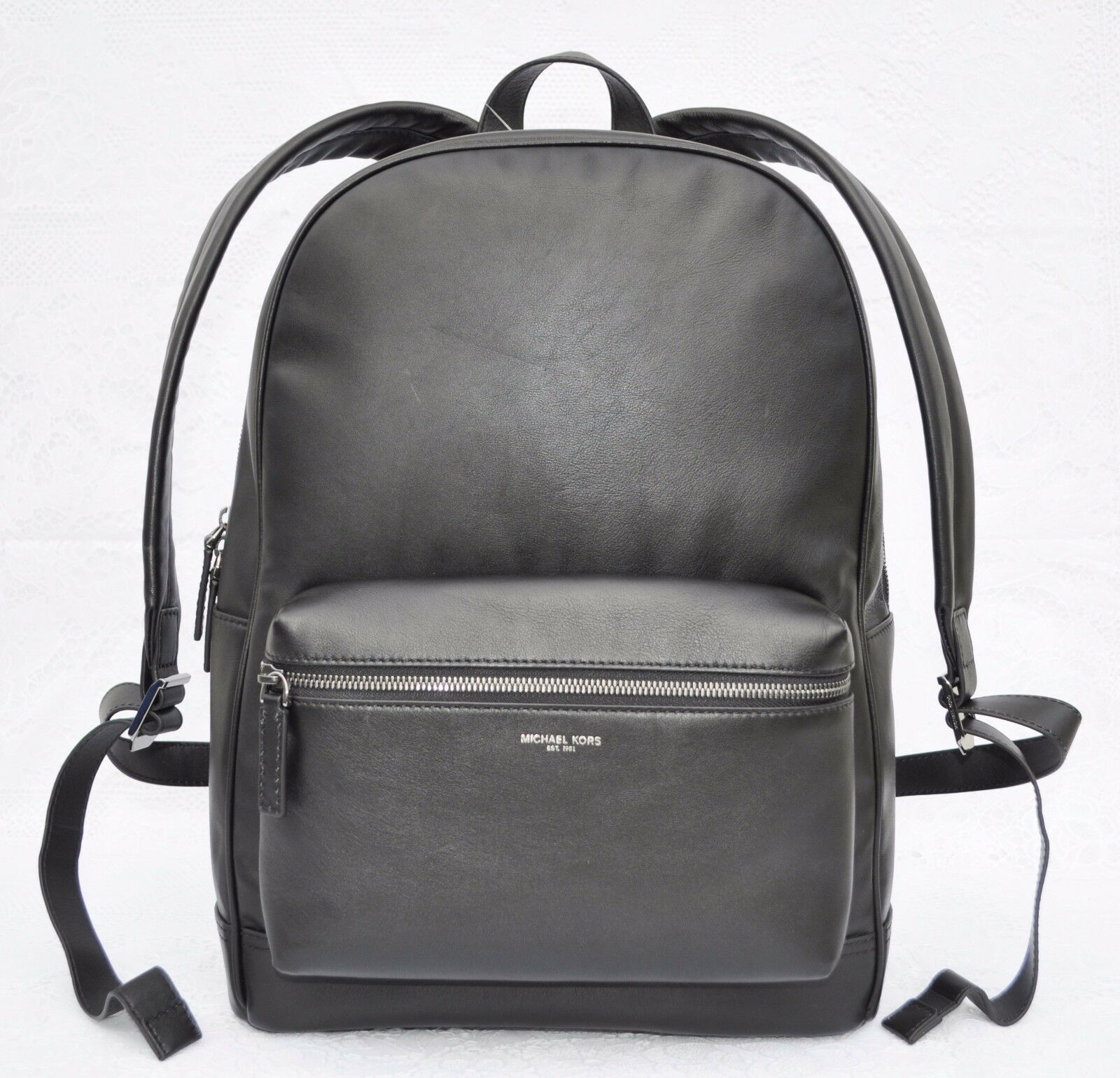 e3ed47fe79f2 Michael Kors Men's Dylan Milled Italian Soft Leather Backpack Black ...