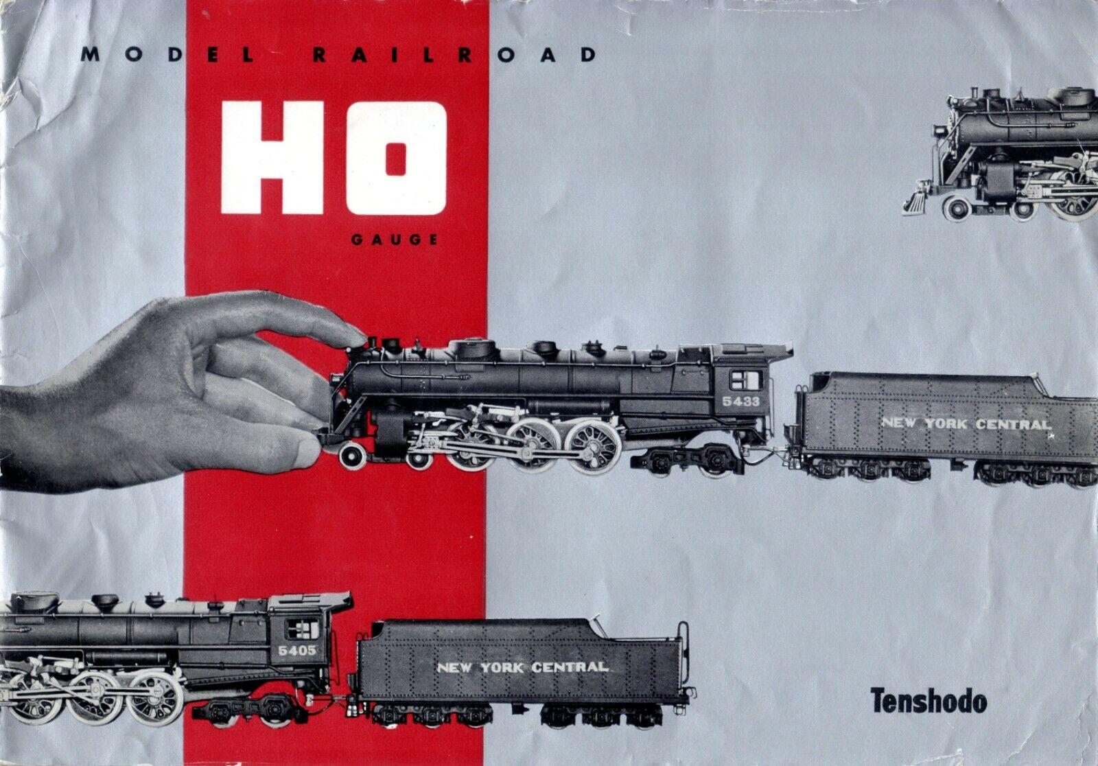 Catalogo TENSHODO 4th edizione 1958 modello Railstrada HO Gauge  prix FF    E     bb
